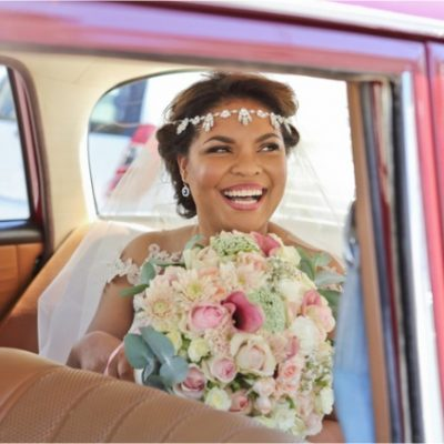 Floral Designs Boho Bride Vintage Car