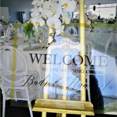 Floral Designs Perspex Welcome Board