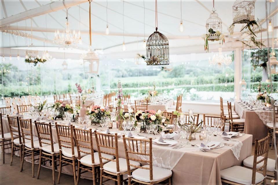 Floral Designs Vintage Decor Birdcages Elegant Dining
