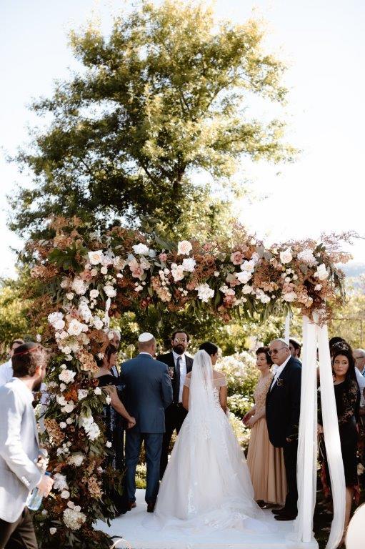 My Pretty Vintage Autumn Wedding Ceremony Floral Arch Chuppah Huppah