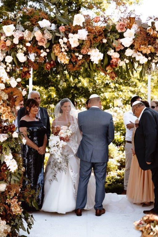 My Pretty Vintage Autumn Wedding Floral Arch Chuppah