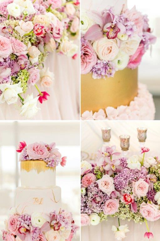 My Pretty Vintage Bridal Cake & Table Flowers_Cavalli Estate