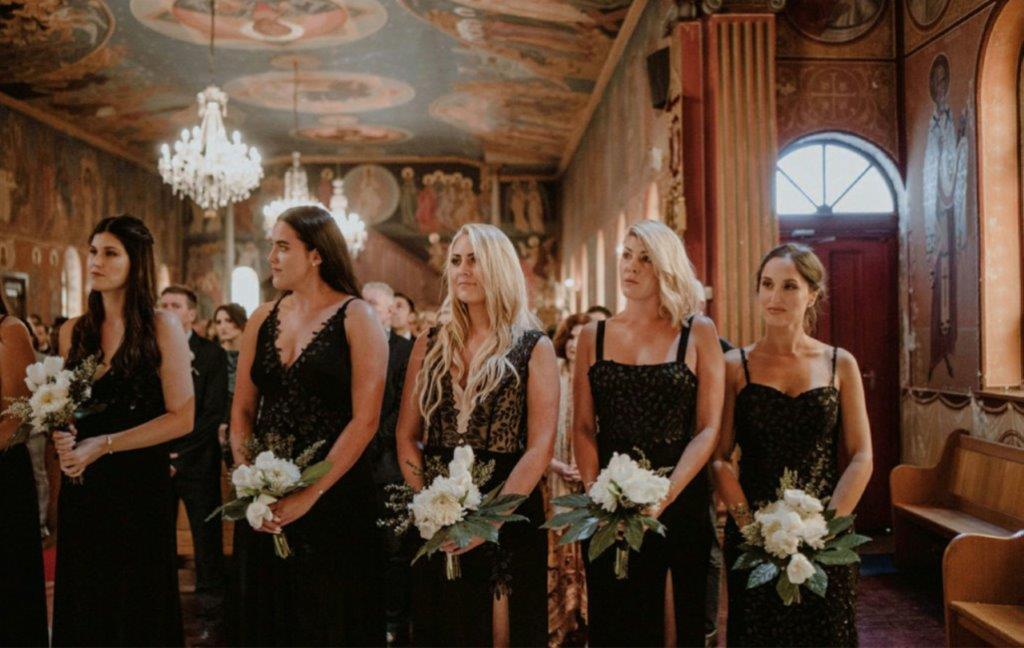 My Pretty Vintage Bridesmaids Greek Wedding