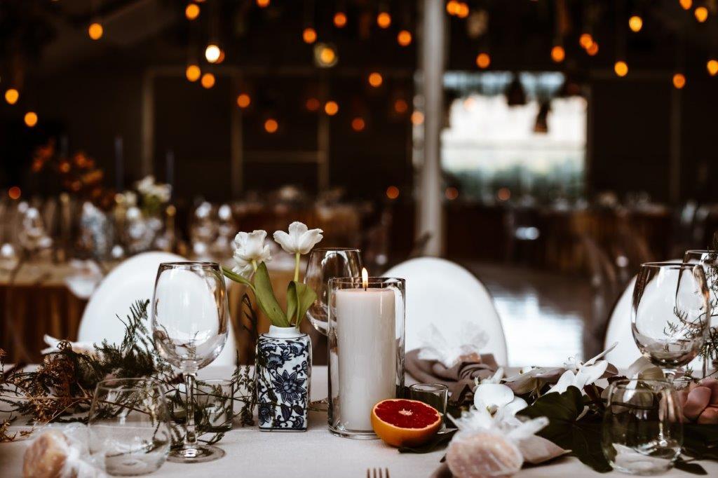 My Pretty Vintage Floral Wedding Ceremony Décor Lighting