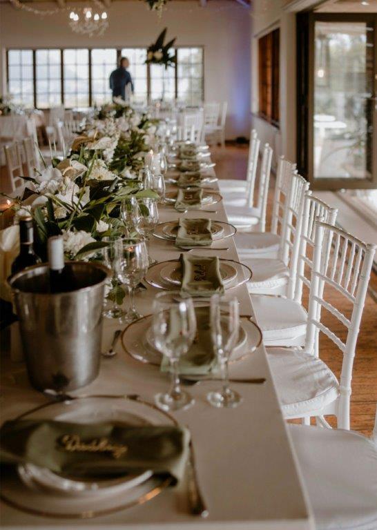My Pretty Vintage Olive Green Table Seating Greek Weddings