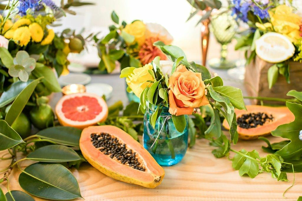 My_Pretty_Vintage_Centerpieces_With_Fruit_ Paw_Paw_Table_Display