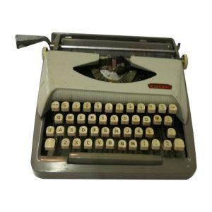Props Typewriter Grey Royal