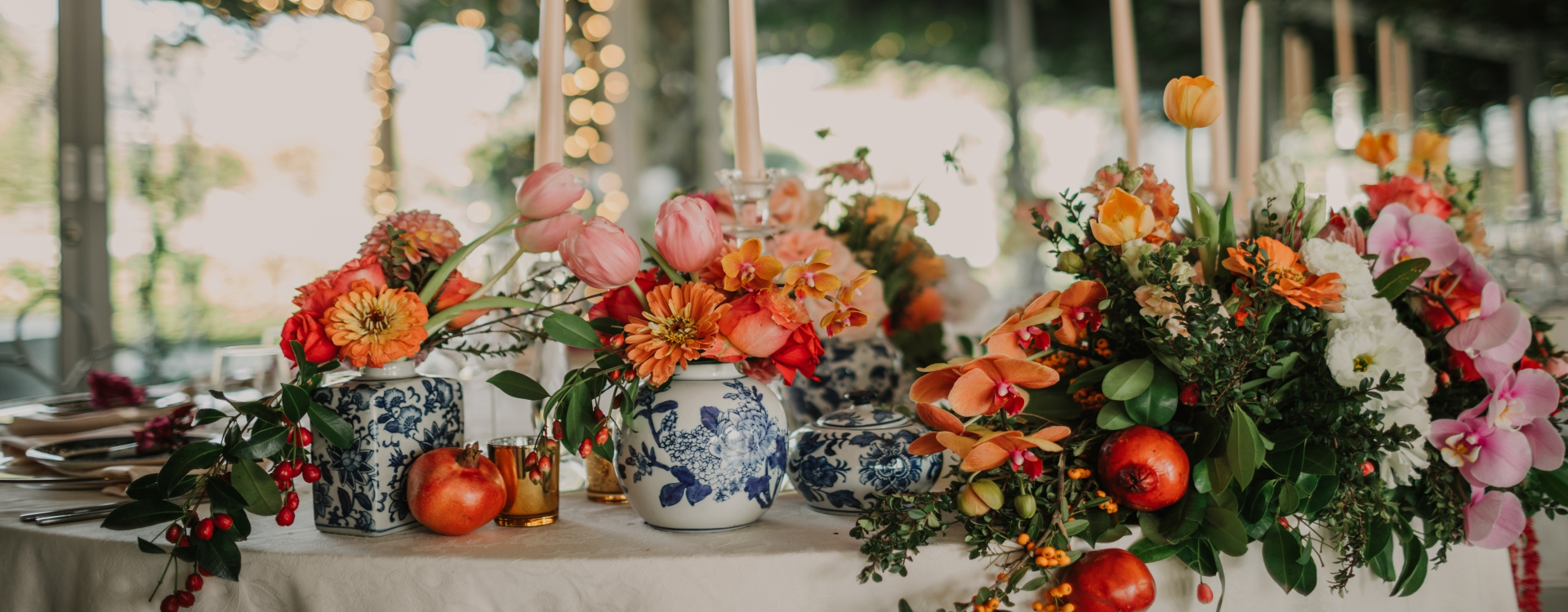Stunning Fresh Fruit Inspired Wedding Table Arrangements & Center Pieces