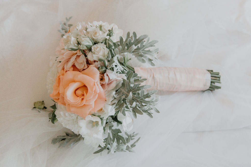 My Pretty Vintage Wedding Bouquets Blush Roses & Dahlia Lisianthus